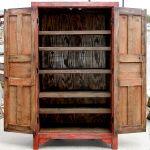 Detail of custom storage armoire