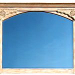 One of 6 mirrors with carved surrounds