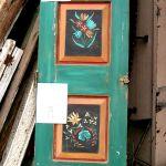 Hand painted antique Mexican door