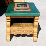 end table with painted panel