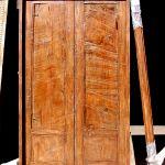 Back of built-in storage cabinet doors
