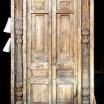antique door with columns surround
