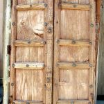 Antique doors with carved astragal