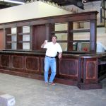 Bar front made with antique doors