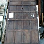 Antique doors used to make bar front panels