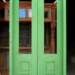 Double doors with transom