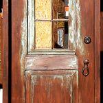 Exterior door with shutter