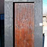 Back of secret bookshelf door
