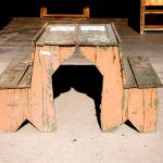 Antique Mexican school desks