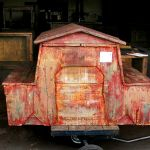 Back of custom dog house