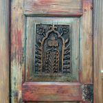 Detail of antique carved panel