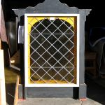 Back of decorative window that will be built into the wall
