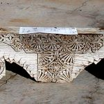 Antique corbel used to make fireplace mantel