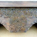 Center detail of custom fireplace mantel