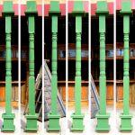 Set of six custom turned columns