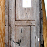 Antique Mexican door used to make rustic entry gate