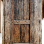 Back of rustic entry gate