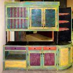 Colorful custom bar cabinets