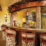 Bar front with bar stools