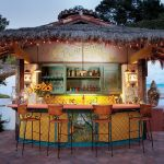 Poolside outdoor bar