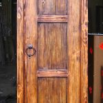 Arched closet door back