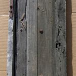 Antique Mexican door used to make small arched door