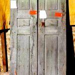 Front of antique Mexican doors