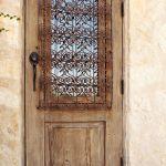Custom exterior door with operable shutter