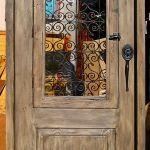 Exterior door with operable shutter