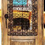 Custom exterior door with grillwork