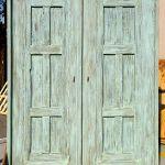 Back of custom linen closet doors
