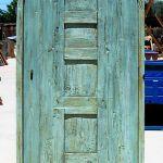Back of custom linen closet door