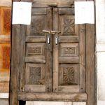 Antique carved cabinet doors