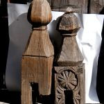 Finials from antique dowry chests