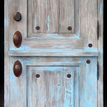 Custom blue Dutch door