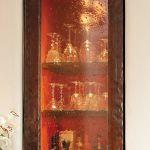Bubble glass detail of bar door