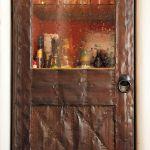 Detail of tin clad bar door