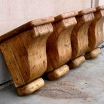 salvaged wood corbels set of four