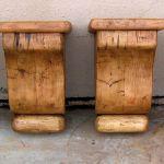 set of 4 salvaged wood corbels