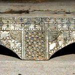 Antique carved corbel used to make custom mantel