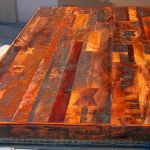 Solid wood patchwork buffet countertop