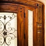 Front door with antique carving