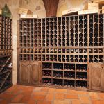 Custom wine cellar shelving