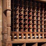 Detail of custom wine rack