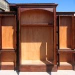 Interior of custom bar cabinet