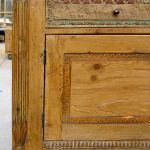 Built-in sideboard cabinet with carved antique fragments