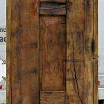 Back of powder room door