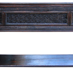 Front of buffet with carved panel