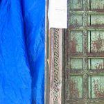 Carved antique panel