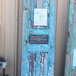 Antique Mexican door used to make gate